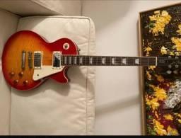 Título do anúncio: Guitarra epiphone standart cherry burst +case skb