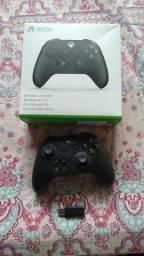 Controle Xbox One Adaptador sem fio Wirelles para Windows 10 carregador de pilhas original