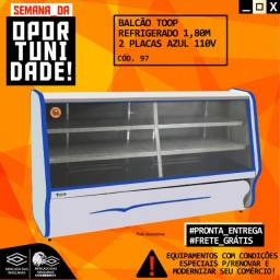 Título do anúncio: Balcão Toop Refrigerado 1,80m 2 placas  Azul 110v Novo Frete Grátis