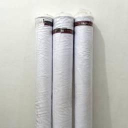 Título do anúncio: Tecido Oxford Branco Liso Rolo de 50 Metros Costura Uniformes Decoração