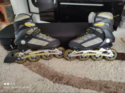 Patins roller speed, semi profissional, aluminiun ABEC7 36-39