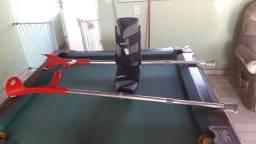 Par de bengala canadense regulável e bota ortopedica