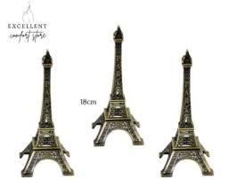 3 (três) Torres Eiffel Decorativa Metal 18cm
