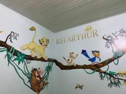Papel de parede infantil personalizado