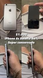 IPHONE 6s 64 GB 86% Bateria
