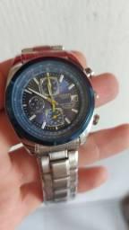Relógio Citizen Blue Angel Masculino em Aço + Pulseira (Fundo Azul - Modelo Importado)