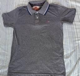 Camisa Polo Masculina Cinza e Lisa - Usada, mas em Perfeito Estado!