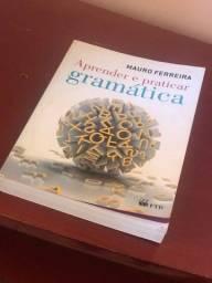 Livro de Gramática aprender e praticar