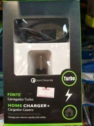 Título do anúncio: Carregador turbo. HOME CHARGER+