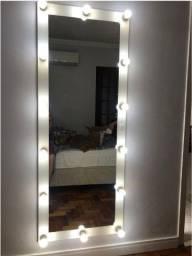 Espelho Camarim Com Moldura Grande Corpo Inteiro