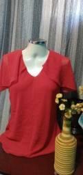 Título do anúncio: Blusa em Crepe Vermelho - Tam. G