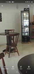 Título do anúncio: Mesas de madeira c/ 2 cadeiras lindas de qualidade