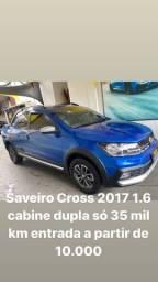 Título do anúncio: Linda Saveiro Cross 2017 1.6 cabine dupla impecável sem detalhes !!