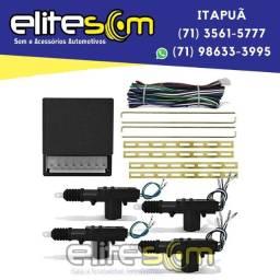 Título do anúncio: Kit Trava Elétrica Universal 4 Portas na Elite Som