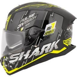 Título do anúncio: Capacete Shark D-Skwal 2 Noxxys KYS Preto/Amarelo