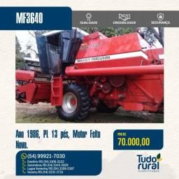 Título do anúncio: Colheitadeira Massey Ferguson /MF3640/ 1986