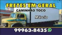 Título do anúncio: faço frete em Uberlândia e região caminhão toco baú