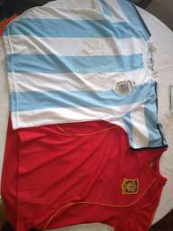 Camisas Seleções Argentina 2006 e Espanha 2008. Originais