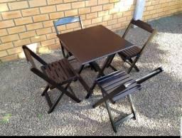 Promoção Mesas e Cadeiras Dobráveis 70x70 genova