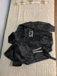 Jaqueta e calça de chuva para motoqueiro