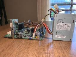 Kit Dell Kit placa-mãe e processador.