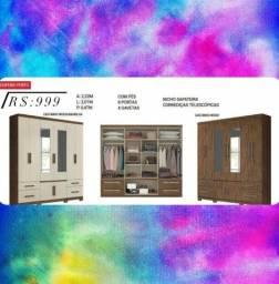 Título do anúncio: Guarda roupa 4 gavetas com espelho Porto