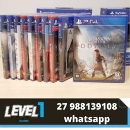 Título do anúncio: Jogos de PS4 Novos e Lacrados- Level 1 Games