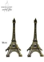 2 (duas) Torres Eiffel Decorativa Metal 18cm