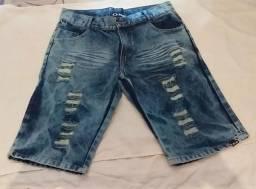 Bermuda jeans pra sair logo !!!