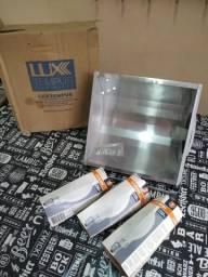 Refletor Lux-250 E-27 com 3 lâmpadas Osram (NOVO na Caixa)