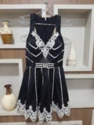 Vestido preto com renda (Dourados/MS)