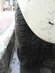 Troco roda de ferro aro 14 c/pneus NOVOS por liga leve