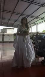 Vestido branco/dama infantil