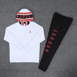 Conjunto de Basquete Jordan White Orange Black