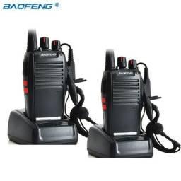 Kit 2 Radio Comunicador Walk Baofeng 777s Alcance + Fone