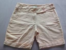 Shorts diversos, cores rosa, marrom, branco e azul