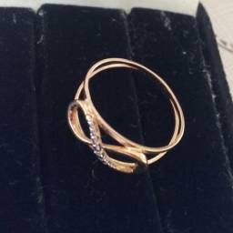 2 anel ouro 18k