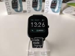 Título do anúncio: Smartwatch Colmi P8 Preto Pulseira de Silicone Compatível com IPhone e iOS Promoção
