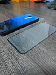 Capa em vidro Xiaomi Note 9, e Película 3D
