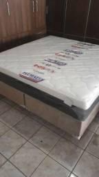 ;; Promoçao Cama Box + Colchao PlumaStar Queen Size 158x198 A Pronta Entrega