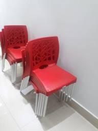 10 cadeiras vermelhas novissimas