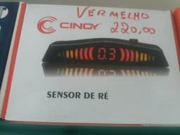 Sensor de estacionamento vermelho