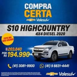 CHEVROLET S10 2.8 HIGH COUNTRY 4X4 CD 16V TURBO - 2020