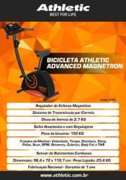 Bicicleta modelo athletic magnétron 2020 com sensor de pulso + cardio