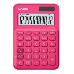 Mini Calculadora de Mesa 10 Dígitos Rosa Casio Nova
