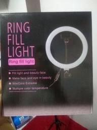 Ring Light 26cm com Suporte para Celular e Tripé de 2 Metros