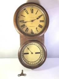 Antigo relógio de parede oito calendário, marca seth thomas