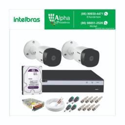 Kit circuito de câmeras de segurança: Kit 2 câmeras: