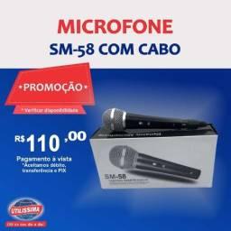 Microfone SM-58 com cabo
