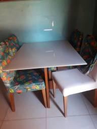Título do anúncio: Mesa de vidro 4 cadeira